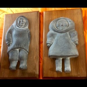 Other - SOAPSTONE CARVINGS ON WOOD AUTHENTIC